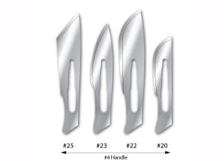 Surgical Scalpel Blades - Carbon Steel #22