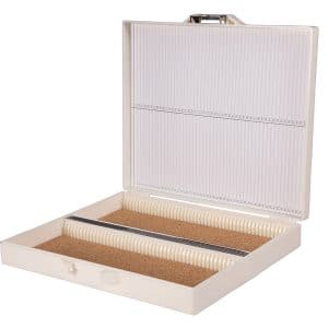Tek-Select® Microscope Slide Storage Box, Plastic, White