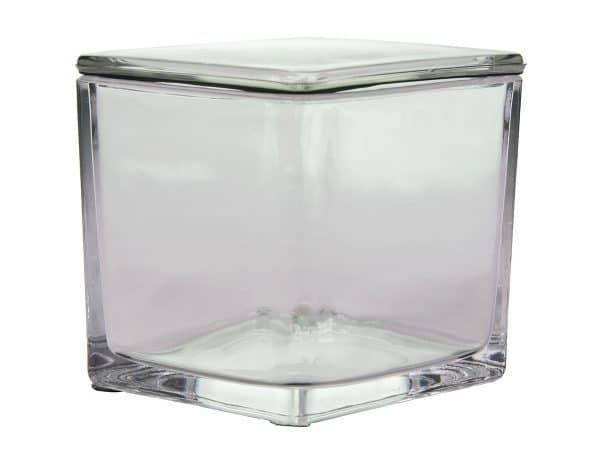 Glass Staining Jar With Ground-In Glass Lid